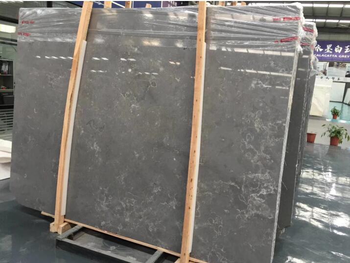 Cheap Seashell Grey Marble Floor Tiles