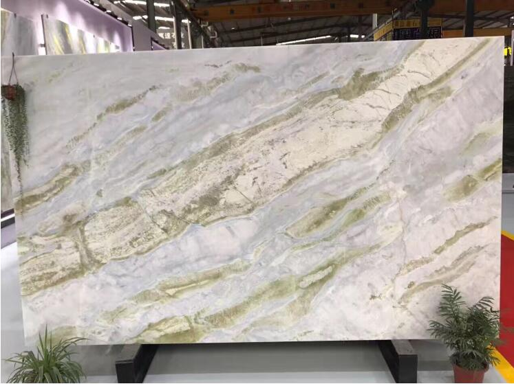 Green White Marble Stair Step