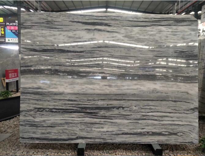 Elegant White Grey Galaxy Marble Floor Tiles