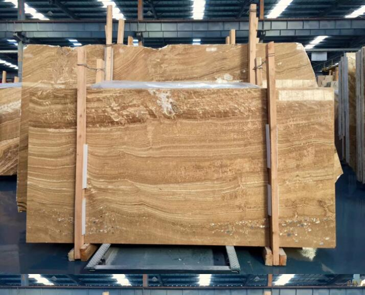 Natural Wood Veins Onyx Marble Slab Orange Wood Onyx Marble
