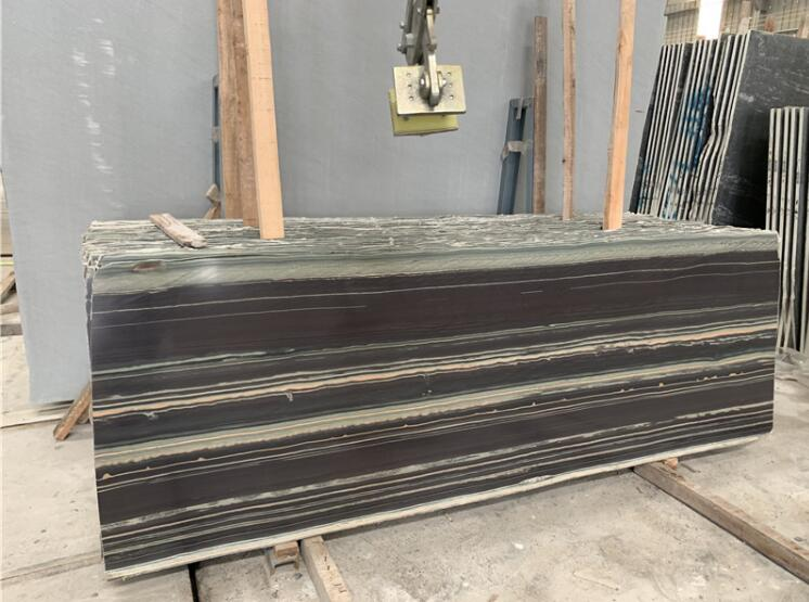 Wholesale Purple Wood Marble Slab