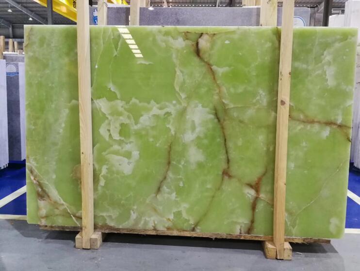 Light Green Onyx Stone Slab