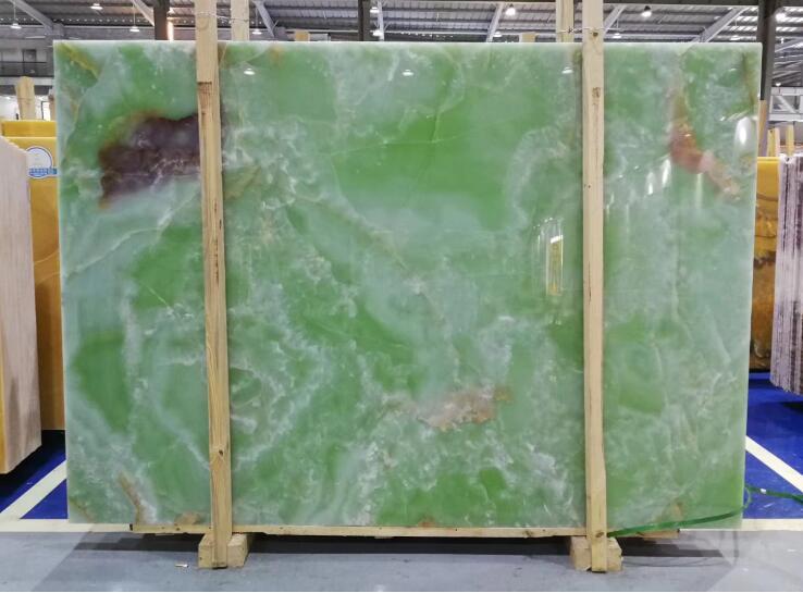 China Backlit Green Onyx Slab
