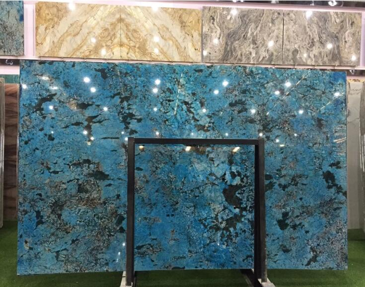 Luxury Brazilian Blue Marble For TV Background Wall