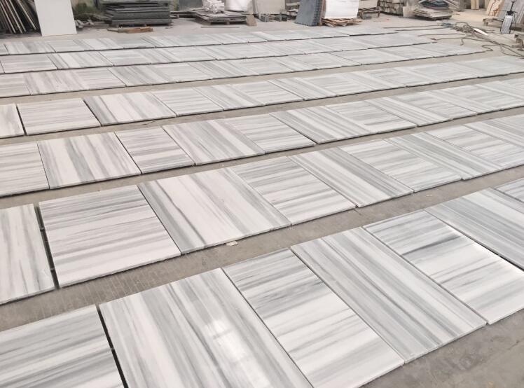 China Palissandro White Wood Marble Tiles
