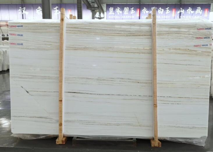 Chinese Palissandro Royal White Marble Slab