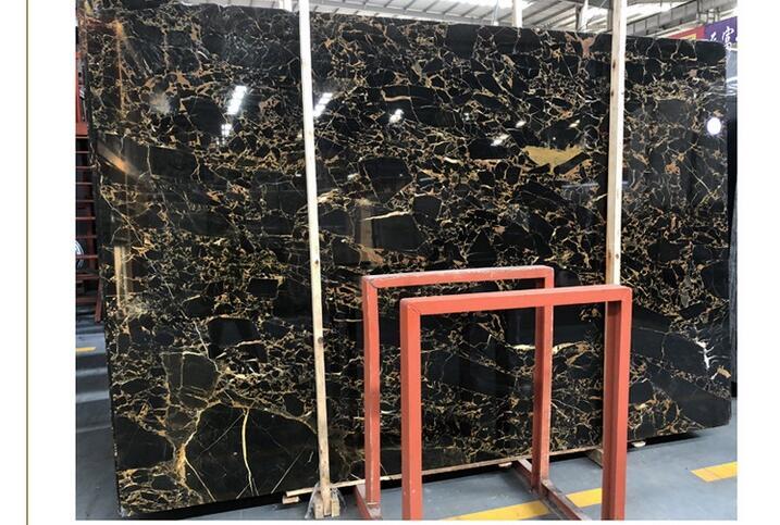 Natural Stone Slab Nero Portoro Gold Marble