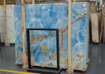 Natural popular blue onyx marble veined buy onyx slabs blue onyx slab blue onyx