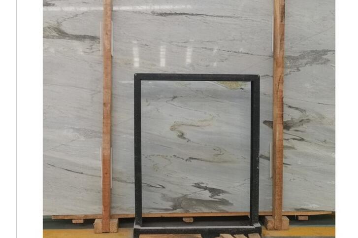 Giallo atlantite beige marble prices installed on lobby wall cladding tiles
