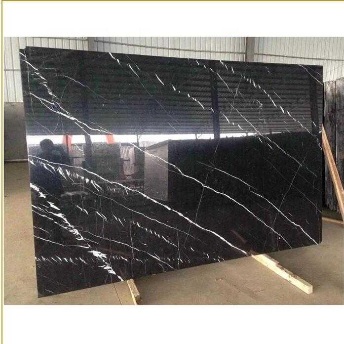 Nero marquina black marble tile 24x24 Chinese Cheap Price Natural Stone Slab black Nero Marquina Marble Black marquina m