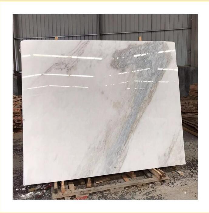 Anna white marble slab carrara tiles with white or grey veins