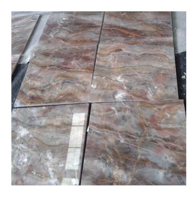 Macchia Vecchia brown and red onyx marble for counter top  floor tile  wall strip etc