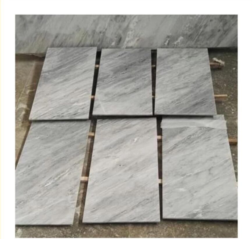 Palace Grey marble slab carrara tiles with white or grey veins