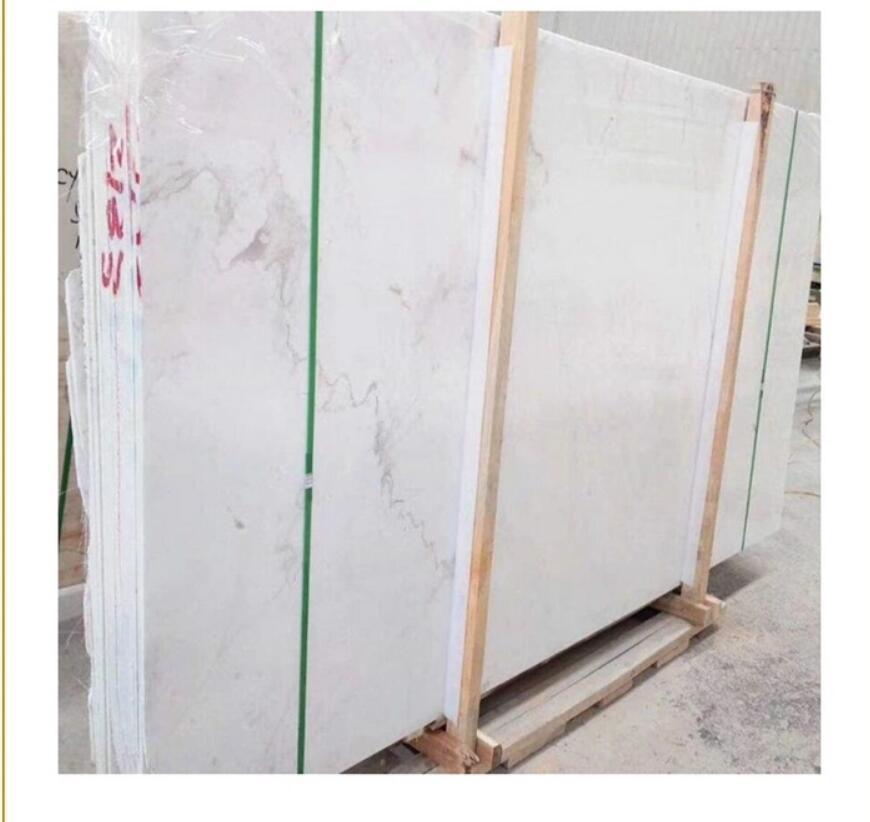 China Valokas white marble slab carrara tiles with white or grey veins