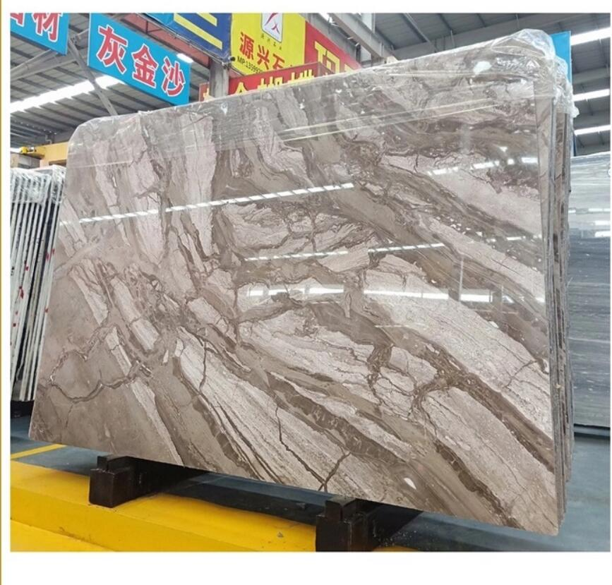 Chinese Venice brown Marble fantasy brown marble slab
