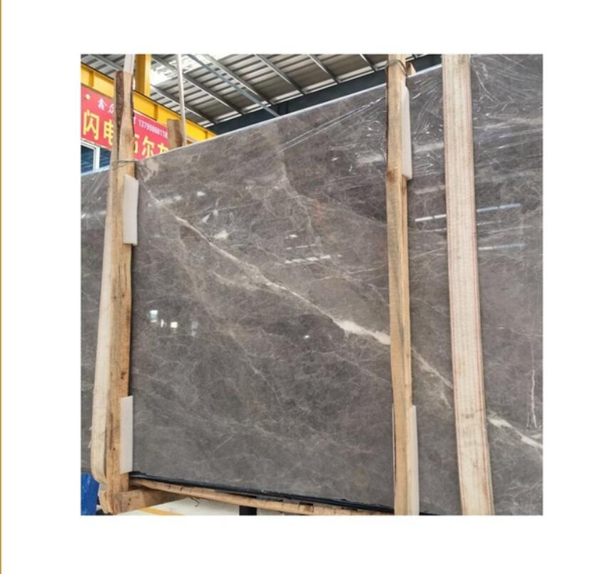 wall decor grey marble with white veins