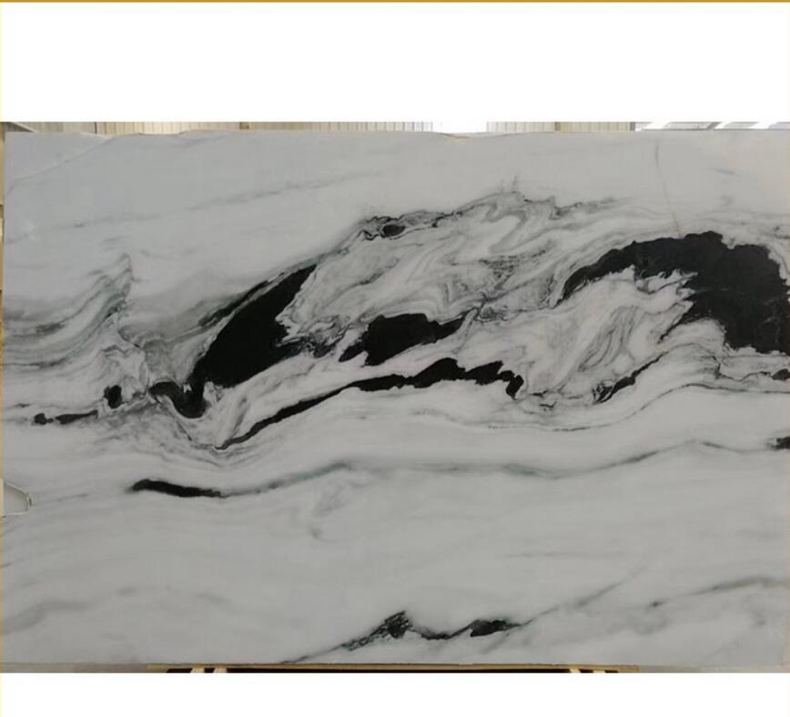 Chinese Cheap Natural Tile Slab Panda White Marble Stone