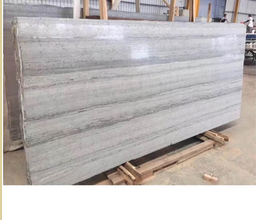 Polished Vein Slab Stone Grain Blue Wood Marble  Blue Wooden Marble