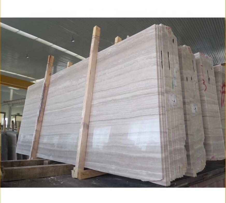 Price Nature Stone White Color Texture Marble Wood Slabs Wooden White Grain Marble Floor Tile White Wood Vein Marble