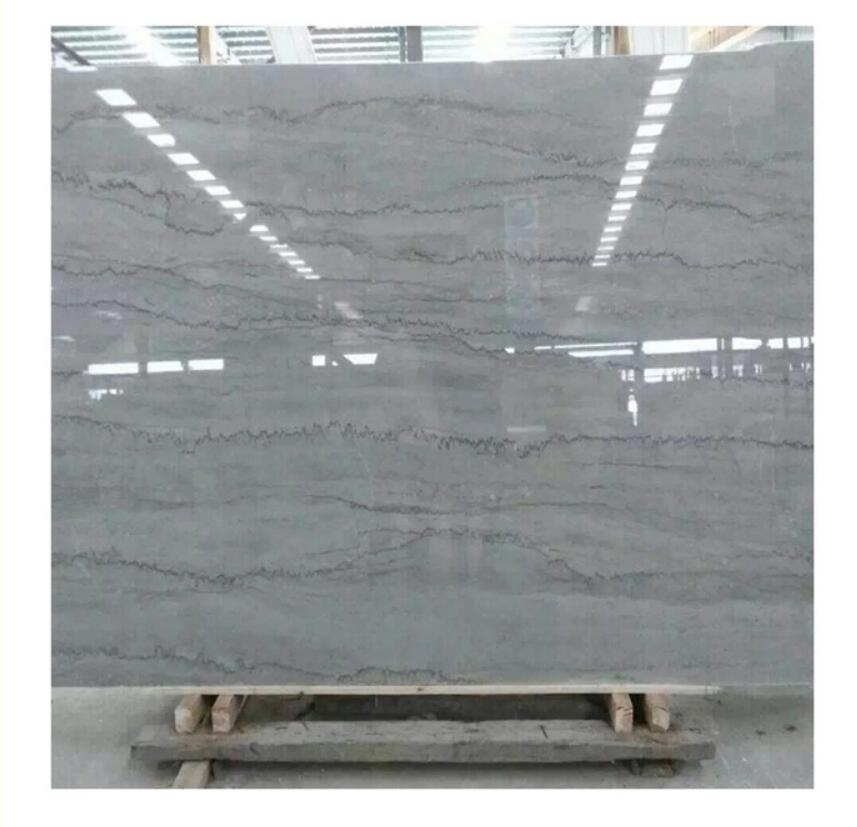 Silver grey dragon Marble with black vein and wave Polished Big Slab for Floor tiles and Wall Decoration
