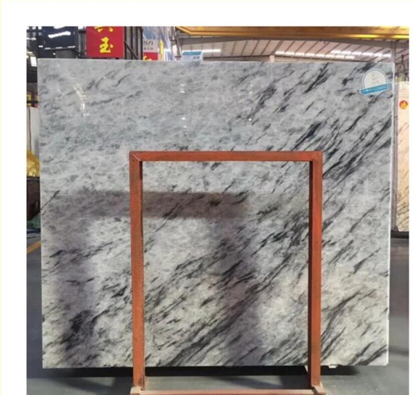Blue Crystal Onyx Ice Jade marble with black veins for counter top  floor tile  wall strip etc