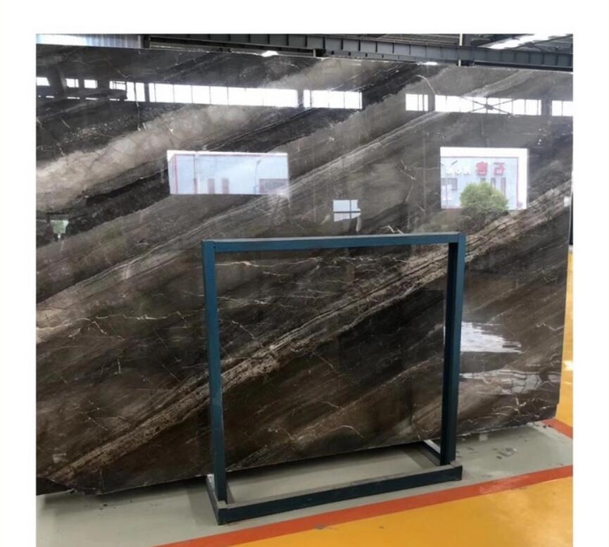 blue Exotic grey Marble stone slab with veins