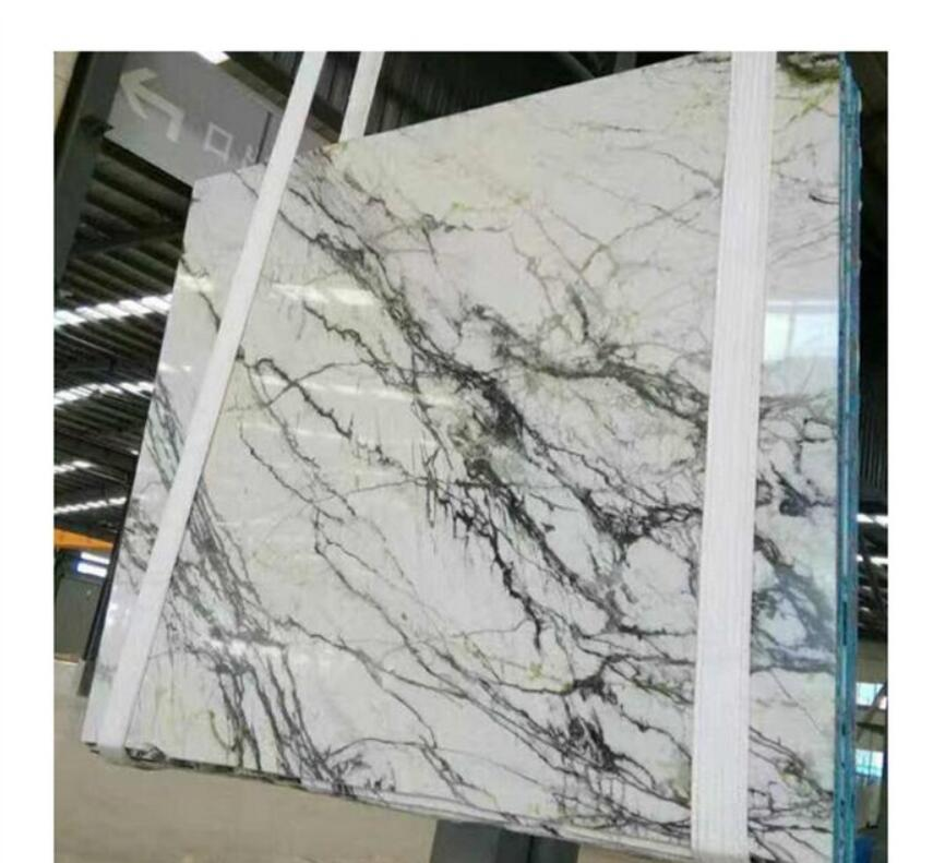 Orchid Jade white marble slab carrara tiles with white or grey veins calacatta jade white marble stone for tile
