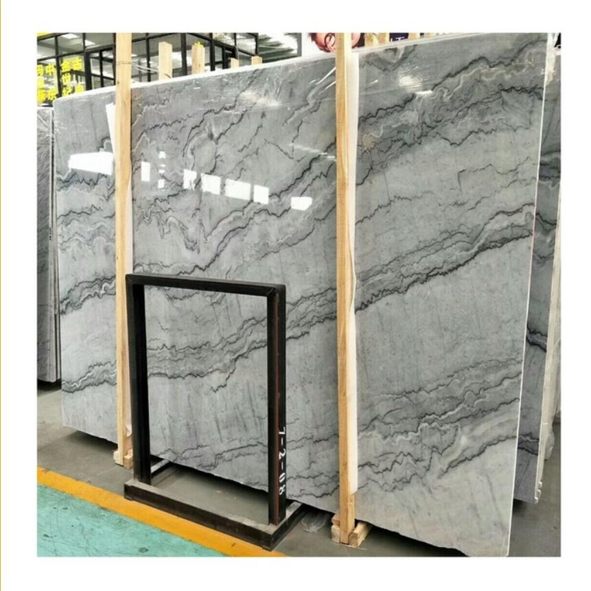 Polished marble Wall Decoration Cheap Price Big Slab Nuvolato Fantasy Bruce Grey Marble for Floor