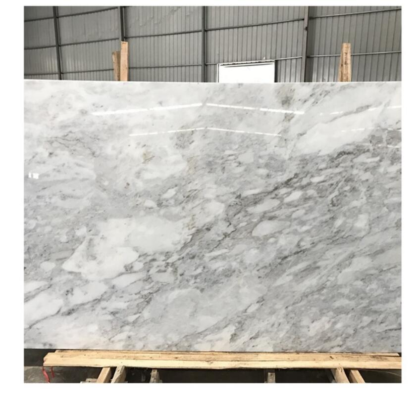 China Calacatta white marble slab carrara tiles with white or grey veins