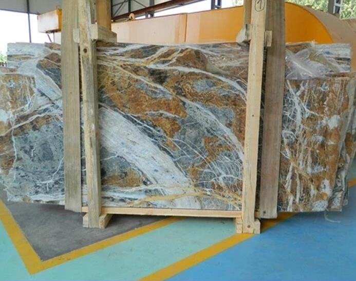 Blue And Brown Marble