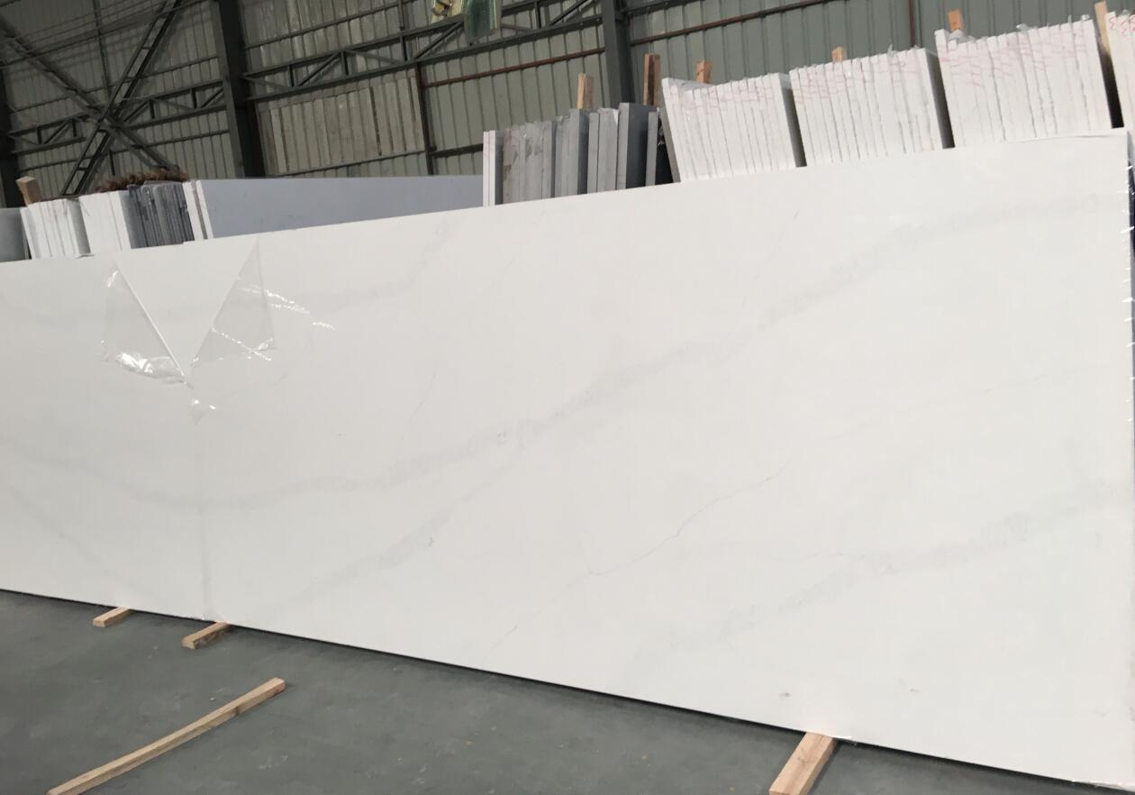 Pure White Quartz Half Slabs