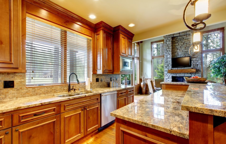 granite countertop and kitchen countertop