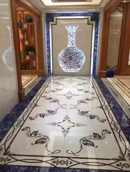 waterjet medallion marble flooring pattern design