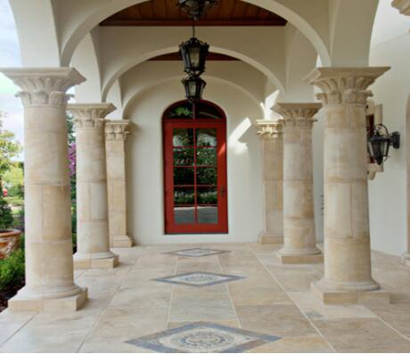 interior decorative natural stone pillars and columns