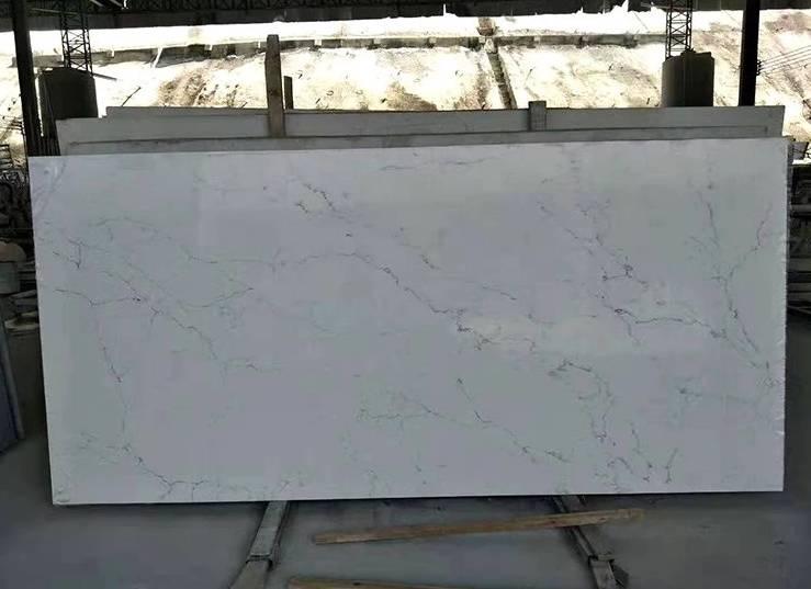 Polished White Silk Quartz Stone Countertop