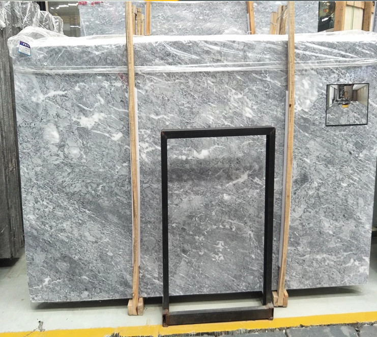 Natural sunny grey color marble