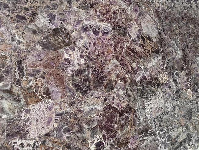 Wholesale Luxury Purple Amethyst Wall GemstoneTile