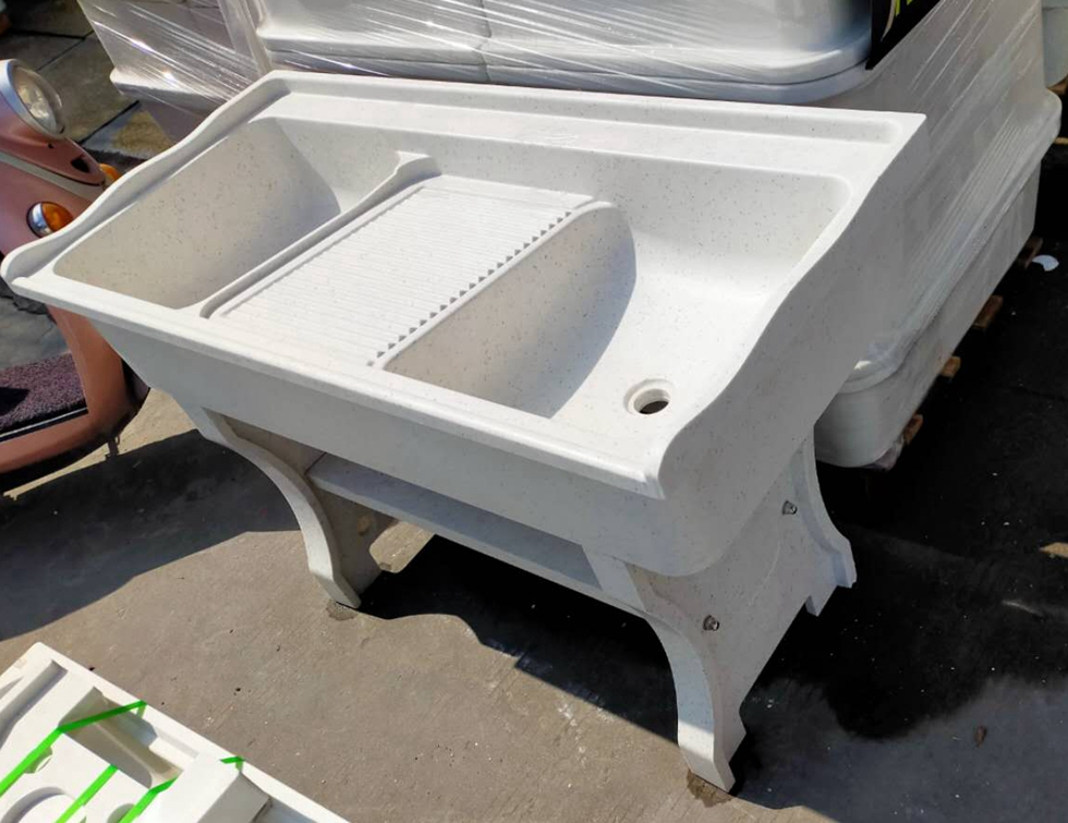 White Quartz Laundry Tub, Quartz Laundry Pool