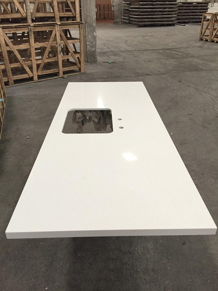 Quartz stone kitchen countertop