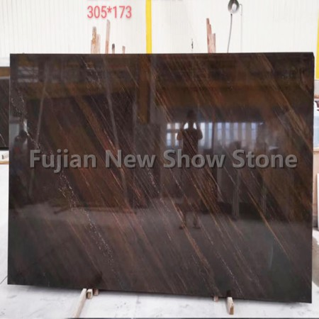 Quicksand brown granite slab