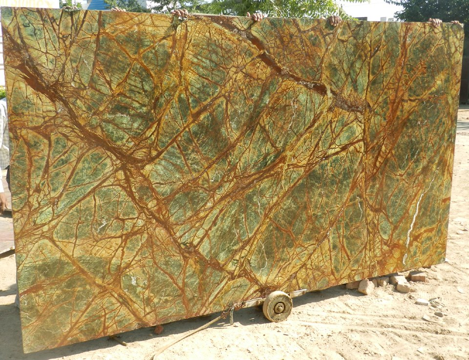Rainforest Green Marble Indian Green Marble Stone Slabs