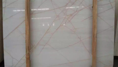 red line white marble
