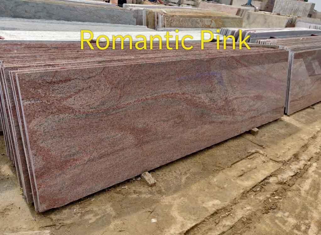 Romantic Pink Granite Slabs Polished Pink Granite Slabs