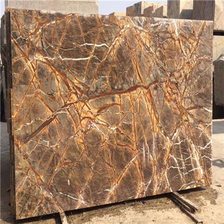 Prefab Rain Forest Brown Marble Slab