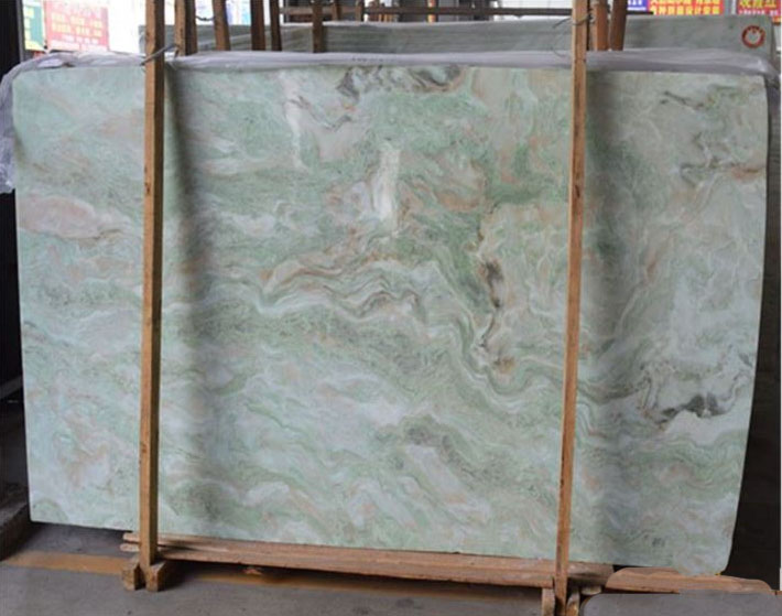 Rainbow Colorful Green Marble