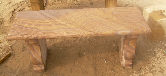 Rainbow sand stone Bench