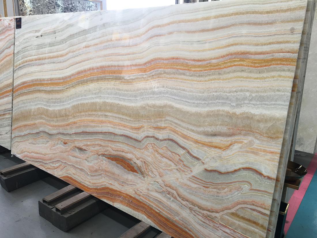 Rainbow Onyx slab