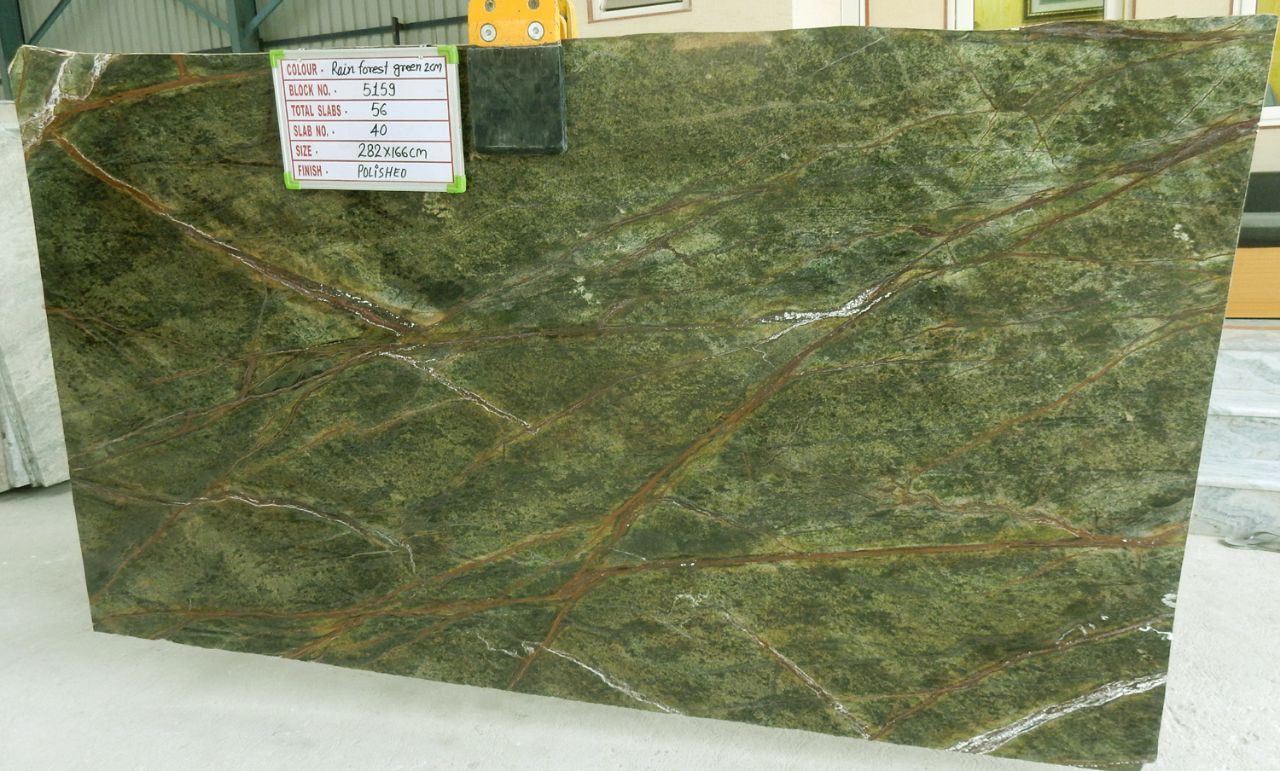 Rain Forest Green Marble Slabs Indian Marble Slabs