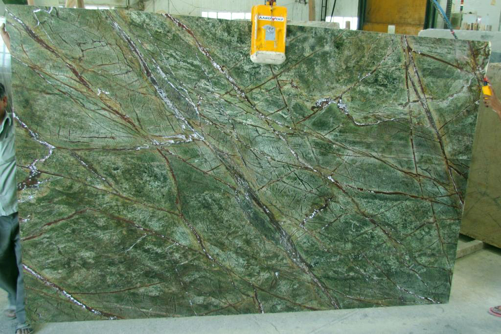 Rain Forest Green Marble Slabs