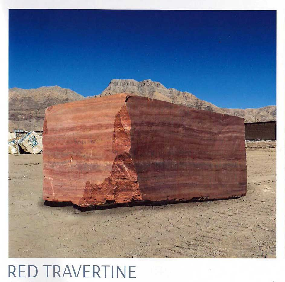 Red Travetine Blocks